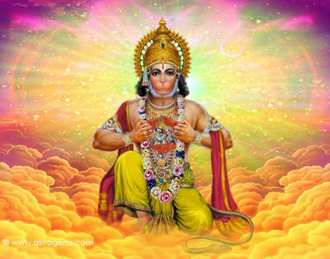 Hanuman-cosmic-lord-hindu-god-monkey
