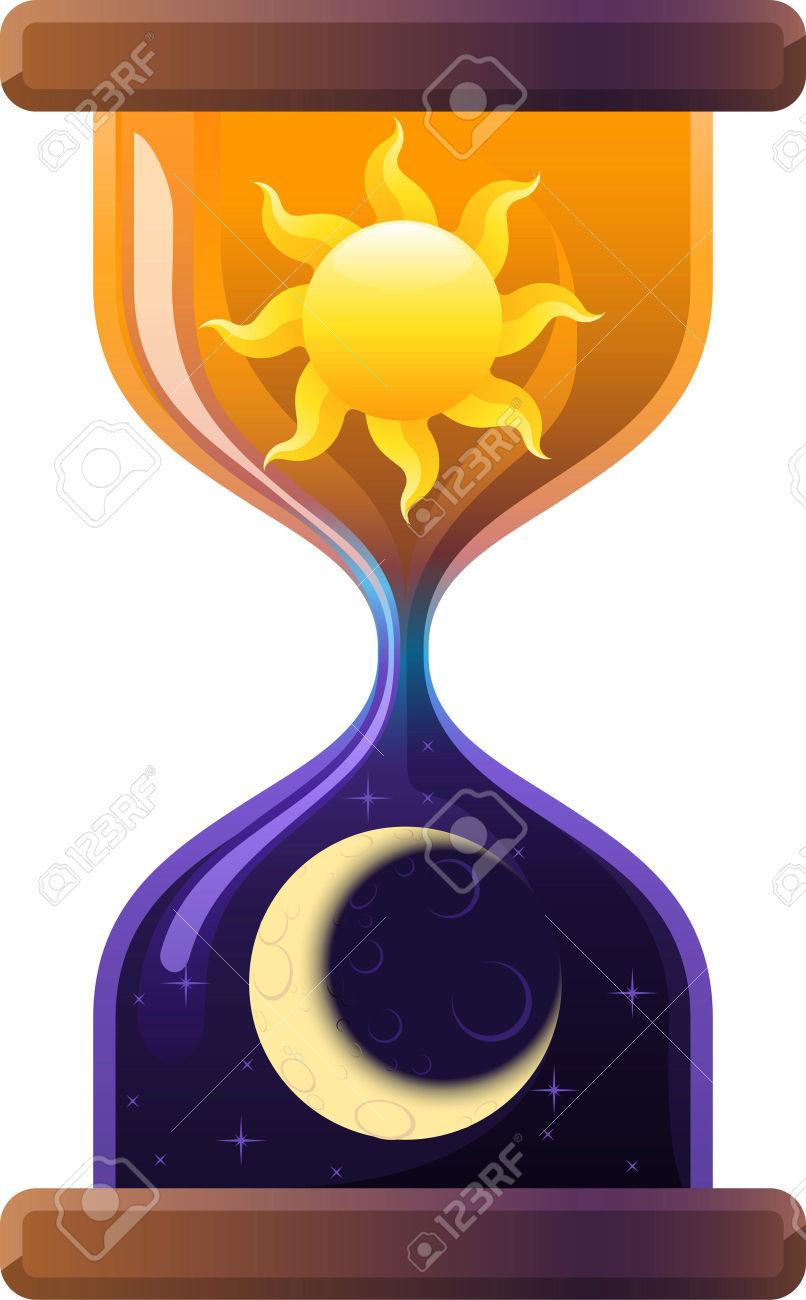 33983236 reloj de arena sol y luna reloj de arena arena for Fotos de reloj de arena