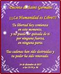 """Decreto Oficial De Saint-Germain:""""La humanidad eslibre"""""""